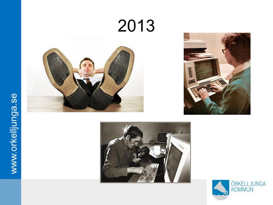 2013 Så hur blev det – vi gick från så här förra året – lugnt allt under kontroll 1 leverantör 1 program.