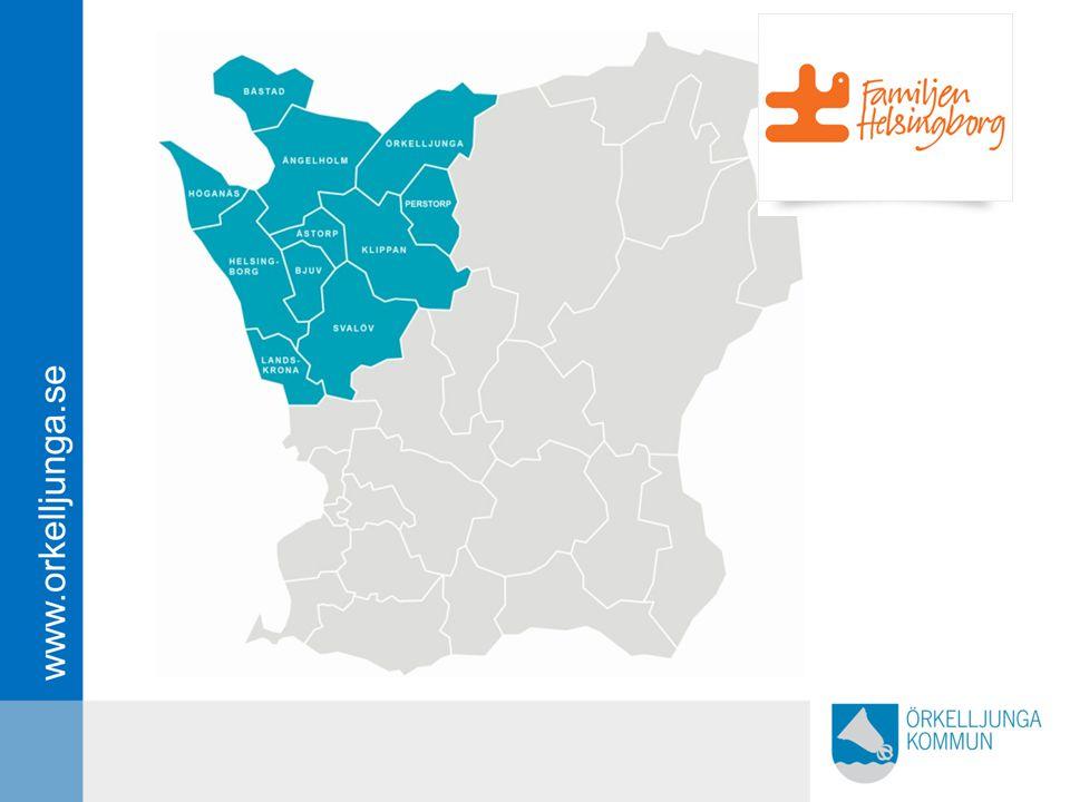 Så vi är sex av de 11 kommuner som tillhör FAMILJEN HELSINGBORG