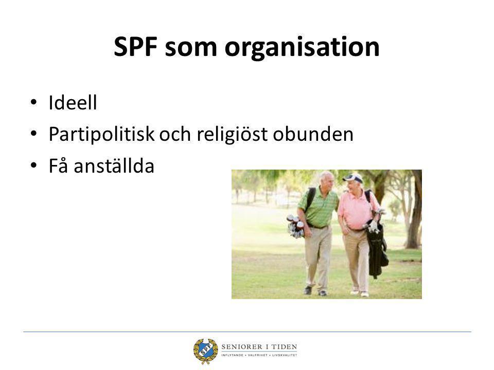 SPF som organisation Ideell Partipolitisk och religiöst obunden