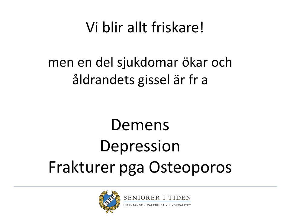 Demens Depression Frakturer pga Osteoporos