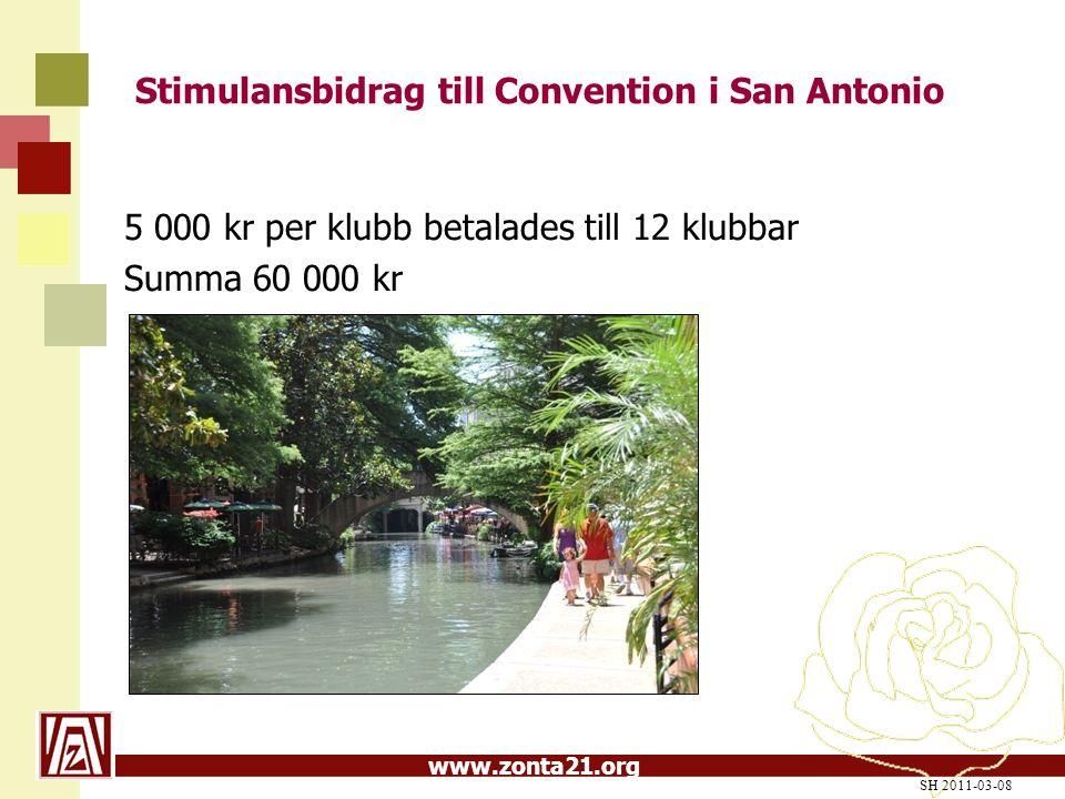 Stimulansbidrag till Convention i San Antonio