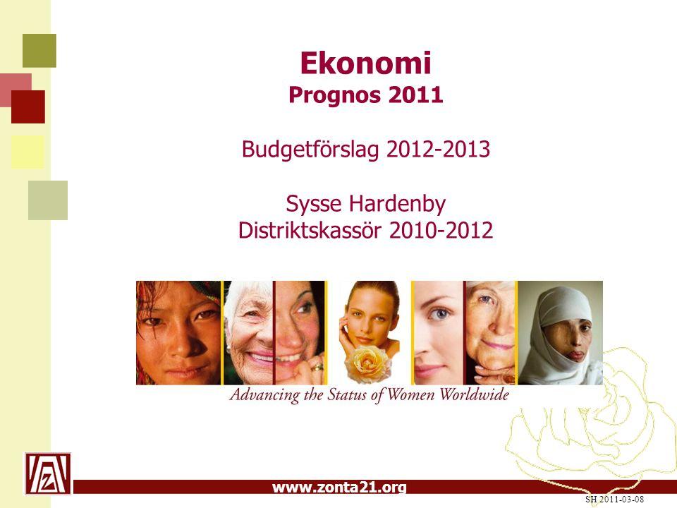 Ekonomi Prognos 2011 Budgetförslag 2012-2013 Sysse Hardenby