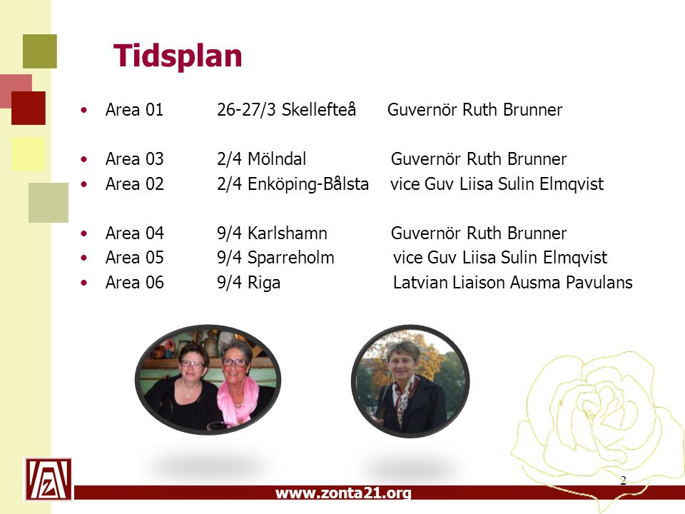Tidsplan Area 01 26-27/3 Skellefteå Guvernör Ruth Brunner