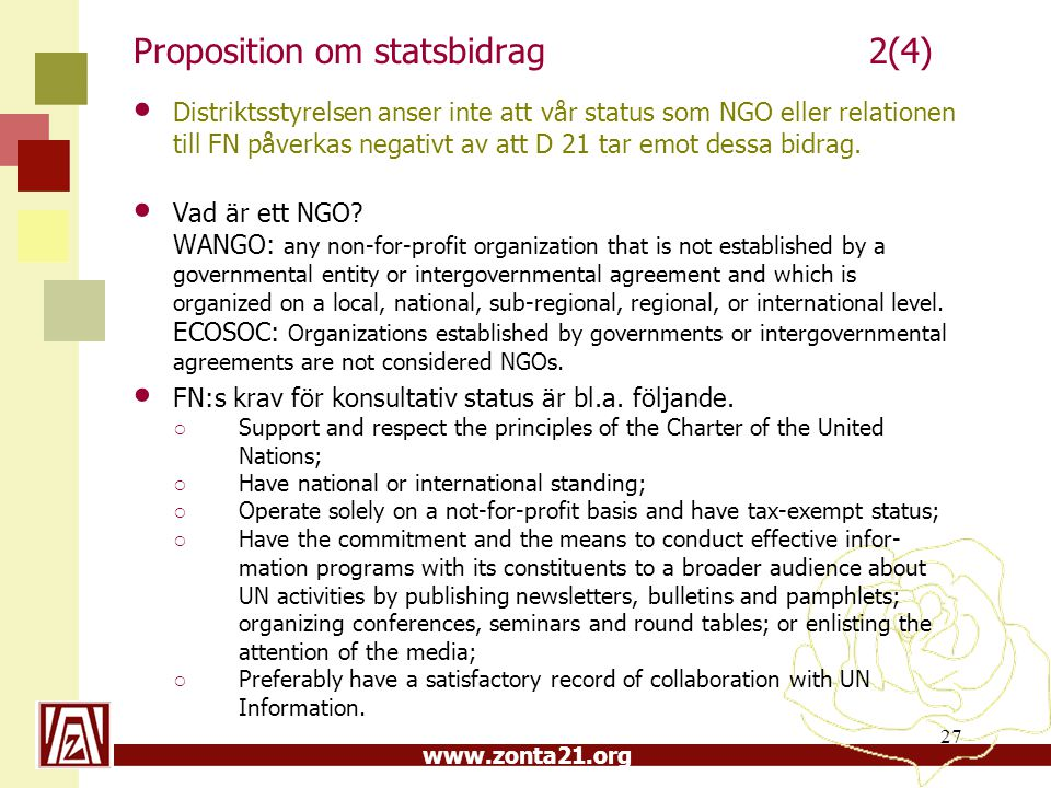 Proposition om statsbidrag 2(4)