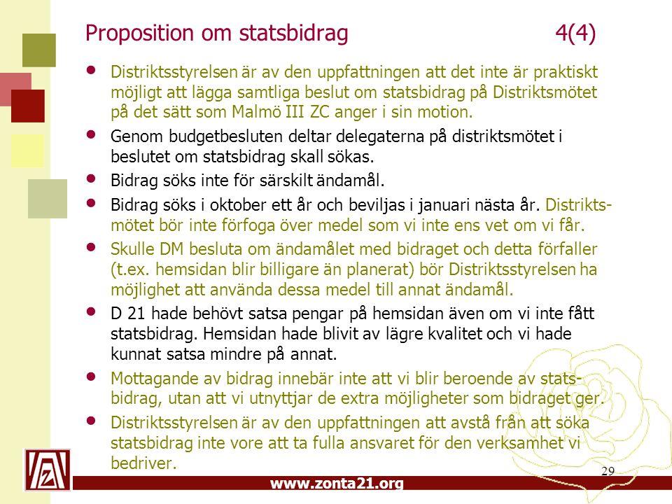 Proposition om statsbidrag 4(4)