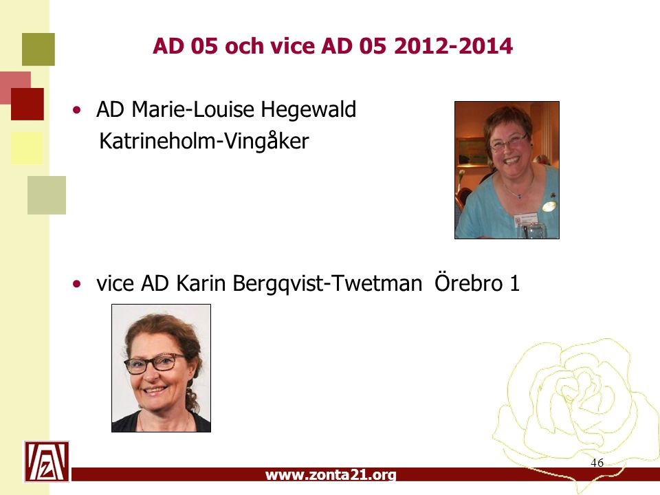 AD 05 och vice AD 05 2012-2014 AD Marie-Louise Hegewald.
