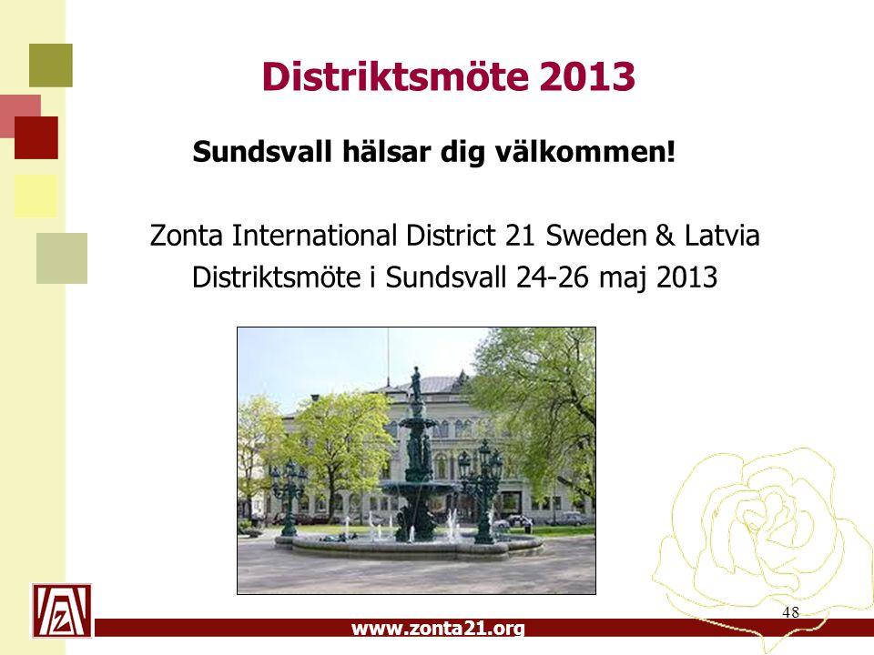 Distriktsmöte 2013 Sundsvall hälsar dig välkommen!