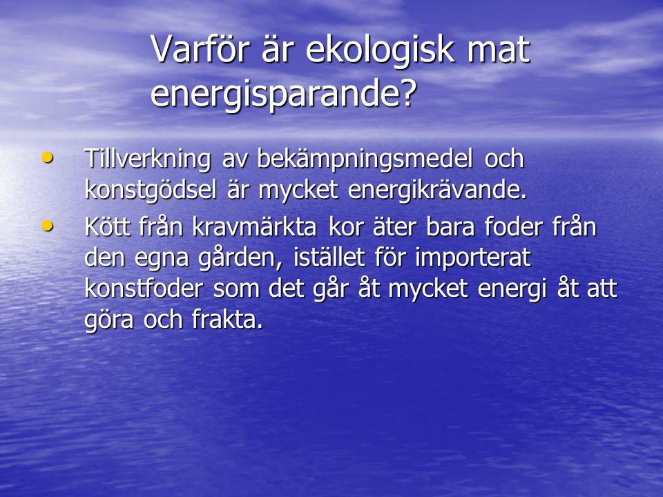 Varför är ekologisk mat energisparande