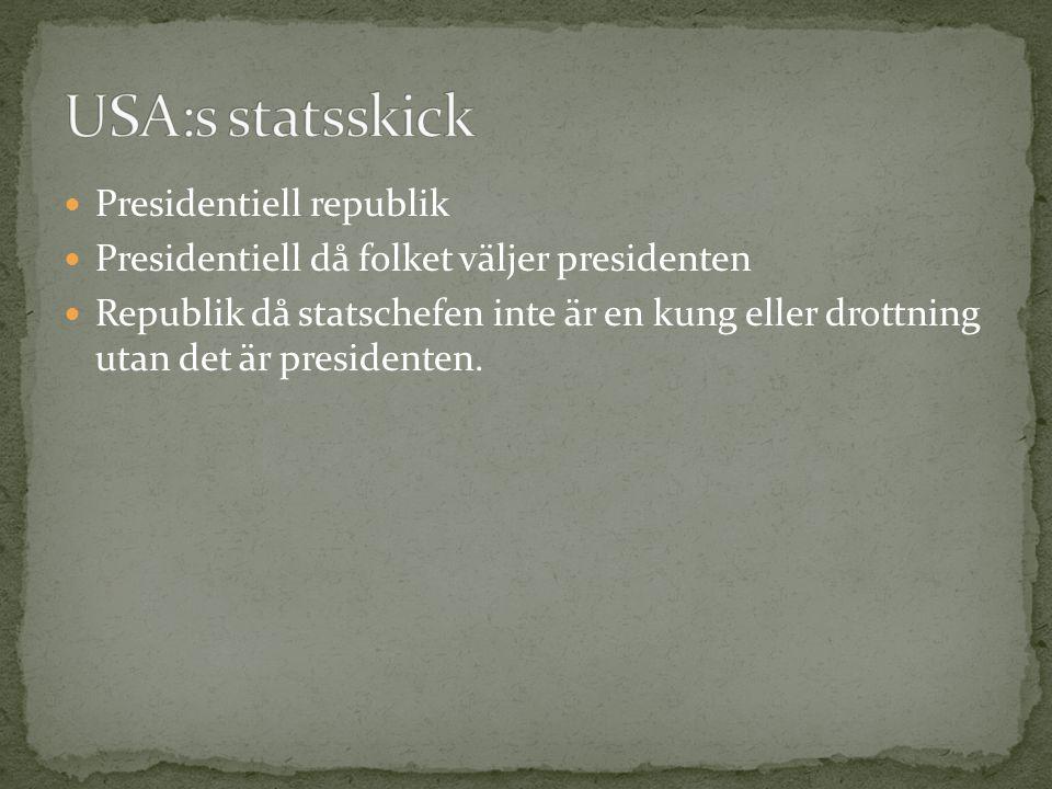 USA:s statsskick Presidentiell republik