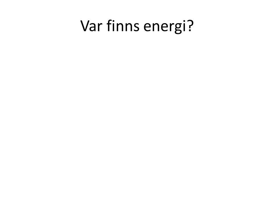 Var finns energi