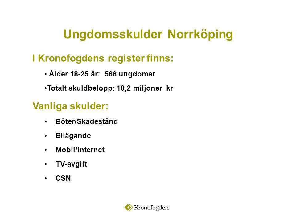 Ungdomsskulder Norrköping