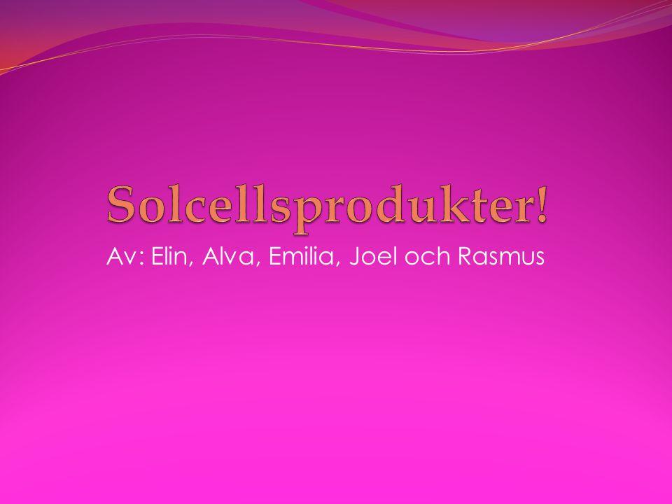 Av: Elin, Alva, Emilia, Joel och Rasmus