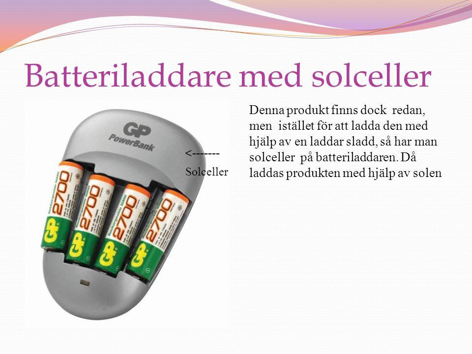 Batteriladdare med solceller