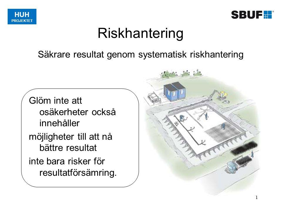 Riskhantering Säkrare resultat genom systematisk riskhantering