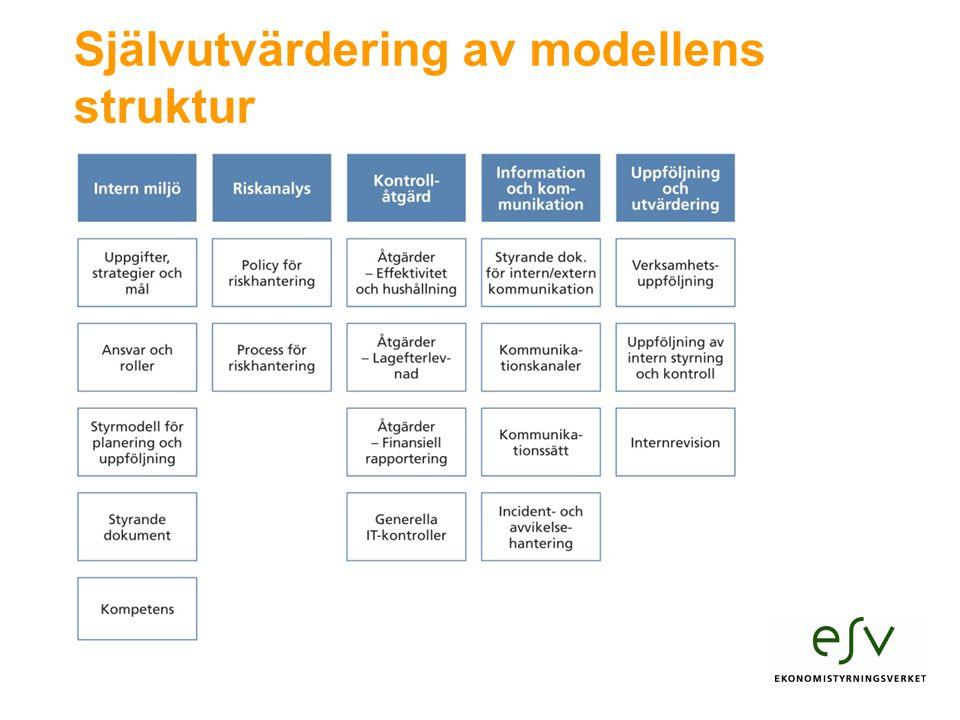 Självutvärdering av modellens struktur