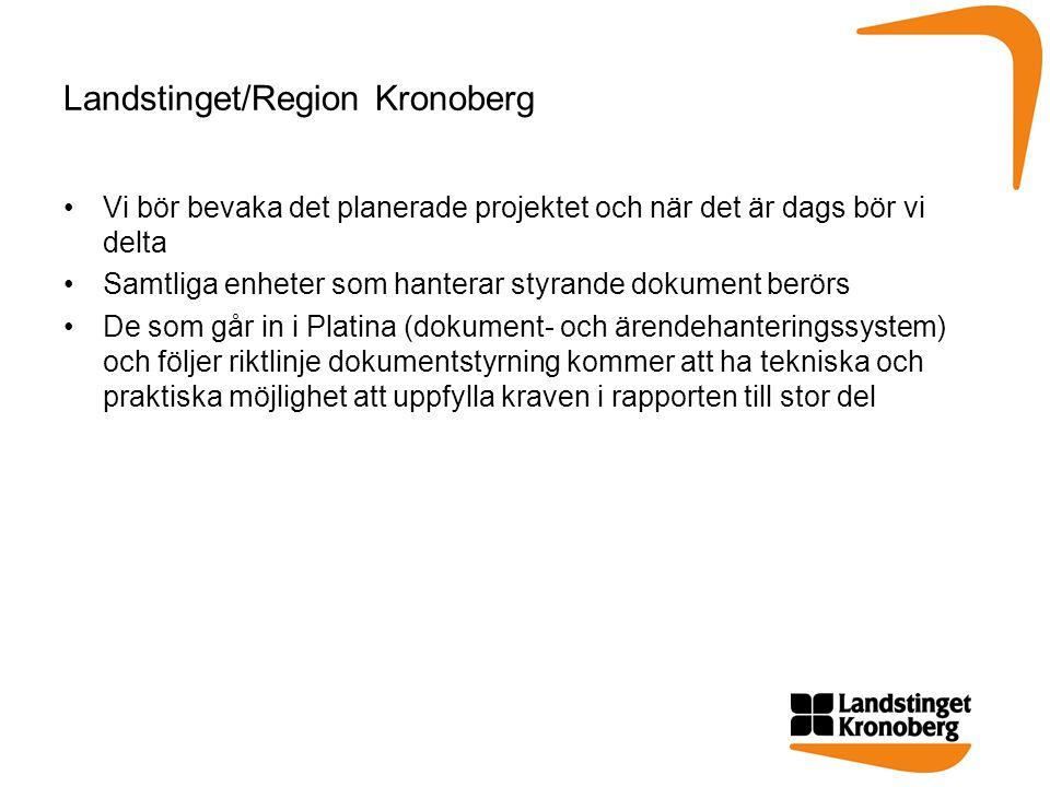 Landstinget/Region Kronoberg