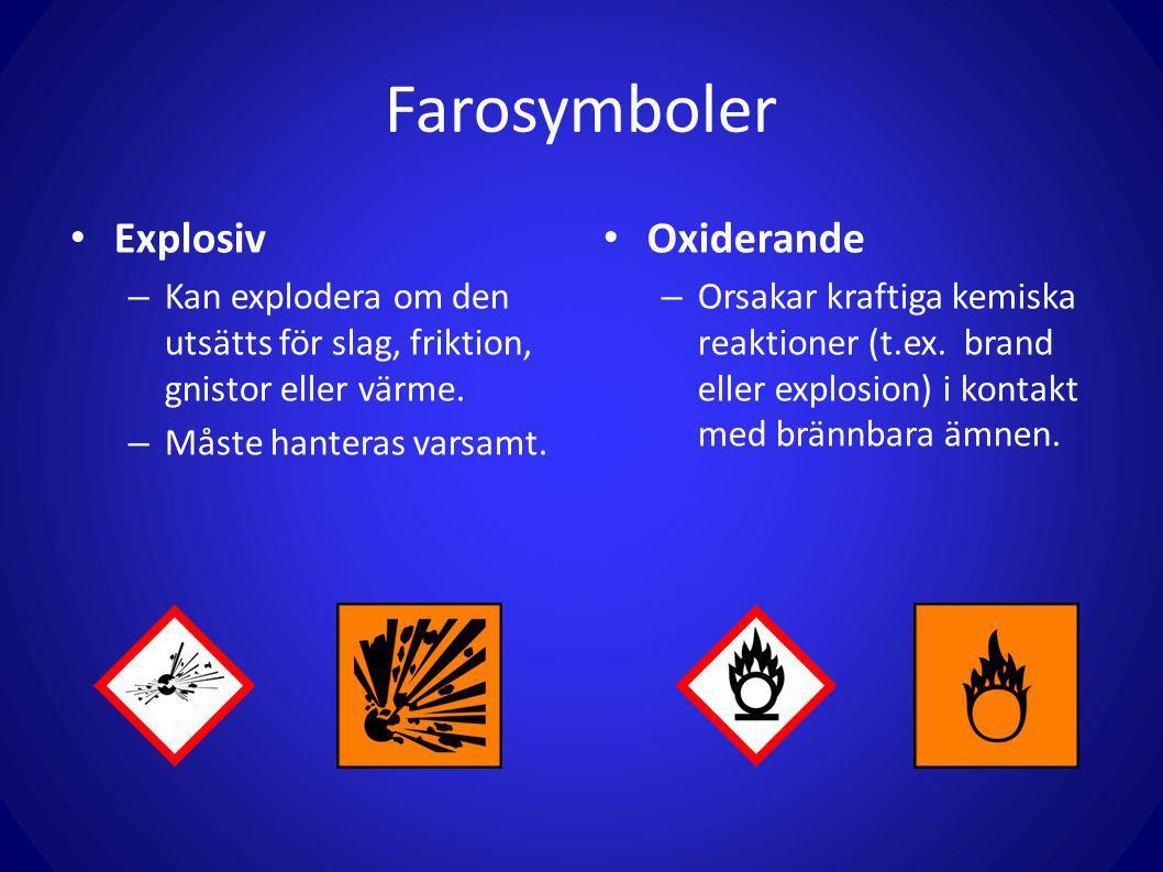 Farosymboler Explosiv Oxiderande