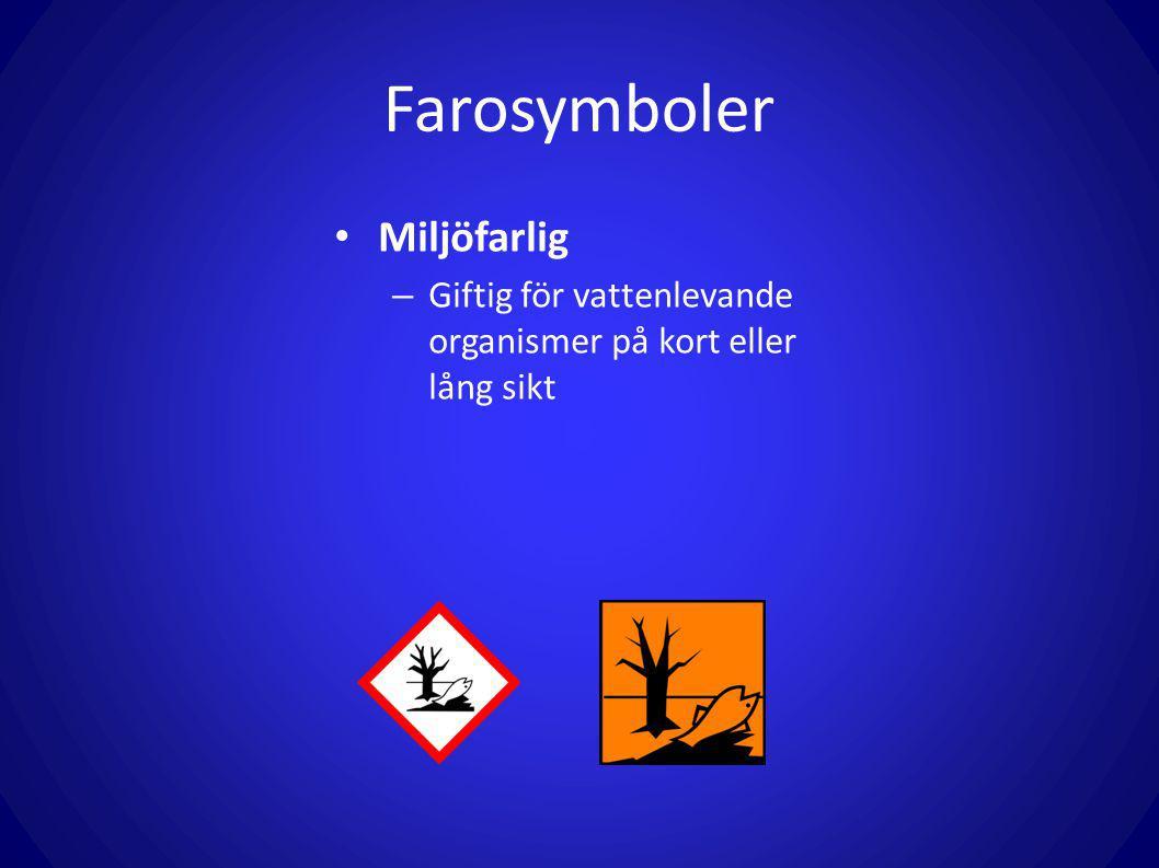 Farosymboler Miljöfarlig