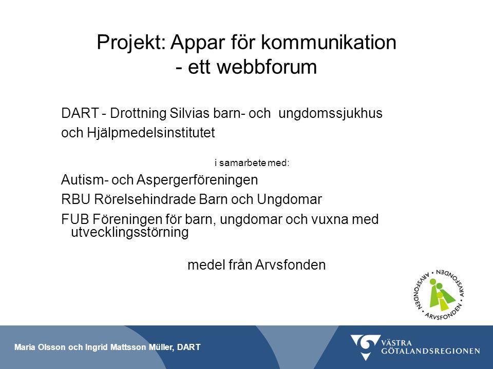 Projekt: Appar för kommunikation - ett webbforum