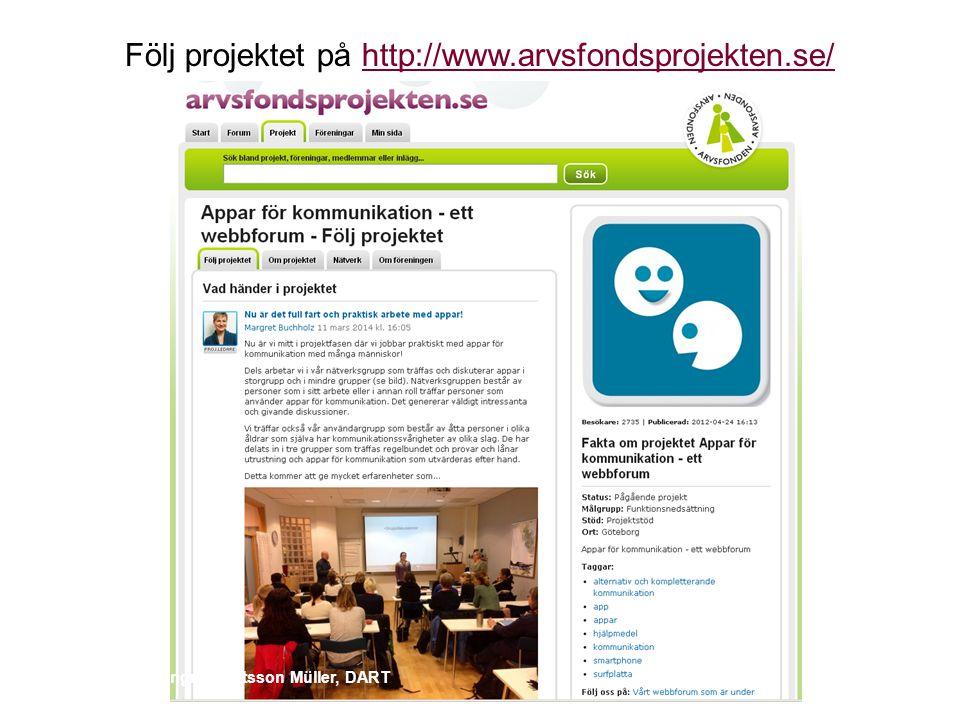 Följ projektet på http://www.arvsfondsprojekten.se/