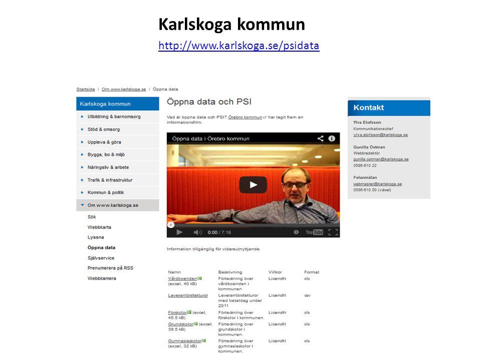 Karlskoga kommun http://www.karlskoga.se/psidata