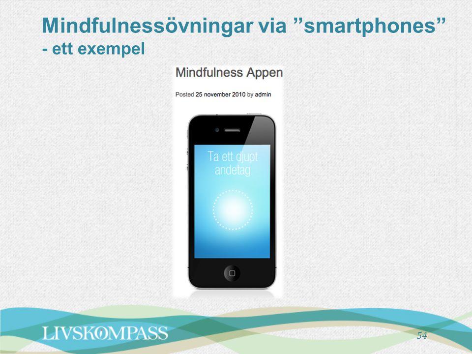 Mindfulnessövningar via smartphones - ett exempel