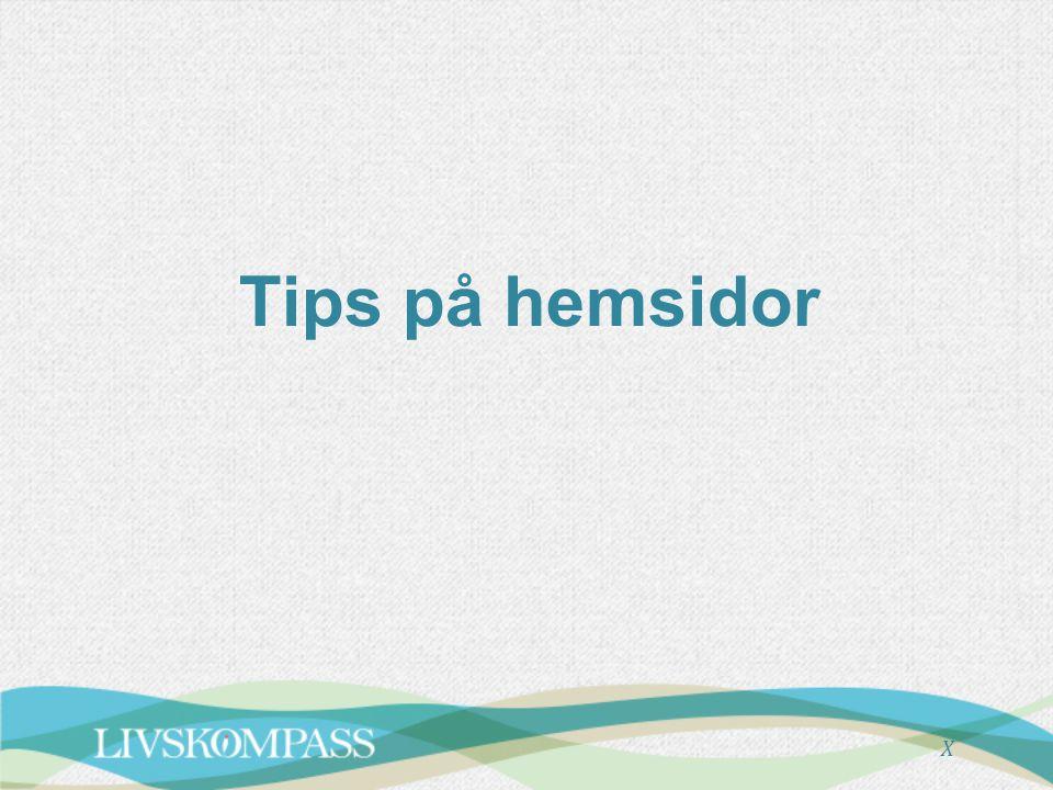 Tips på hemsidor