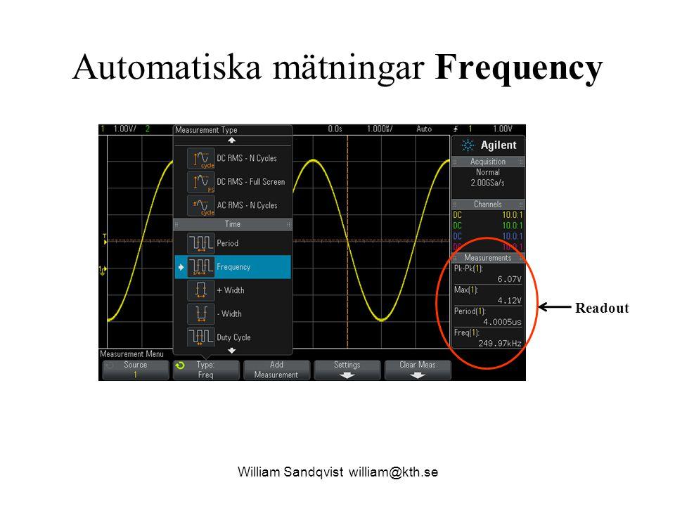Automatiska mätningar Frequency