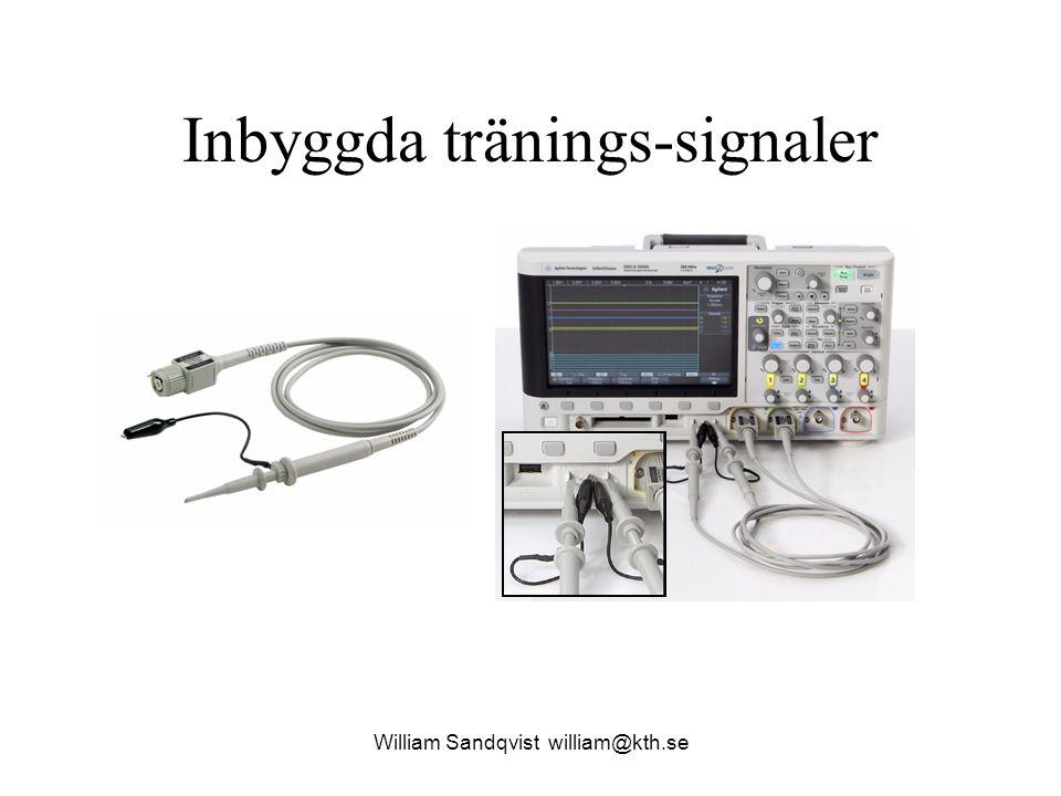 Inbyggda tränings-signaler