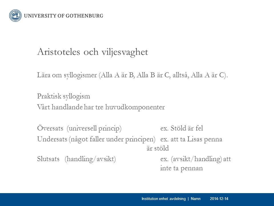 Aristoteles och viljesvaghet
