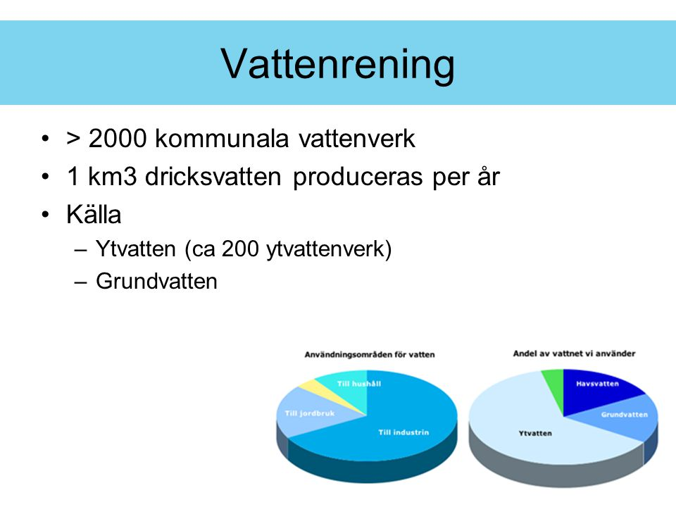 Vattenrening > 2000 kommunala vattenverk