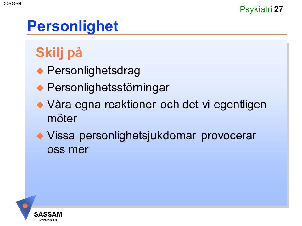 Personlighet Skilj på Personlighetsdrag Personlighetsstörningar