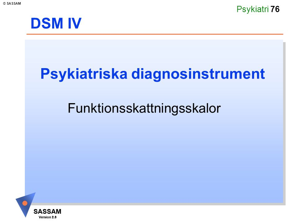 Psykiatriska diagnosinstrument