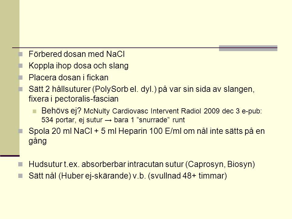 Förbered dosan med NaCl