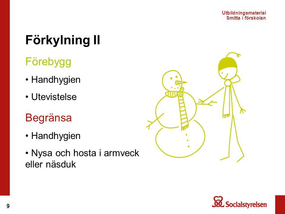 Förkylning II Förebygg Begränsa Handhygien Utevistelse Handhygien