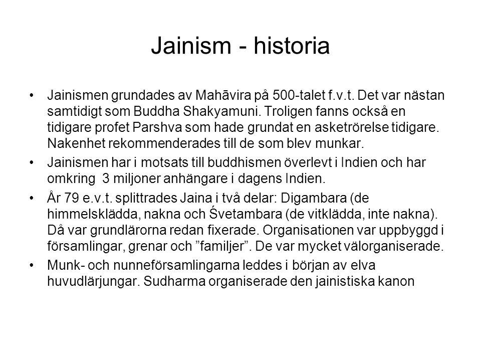 Jainism - historia