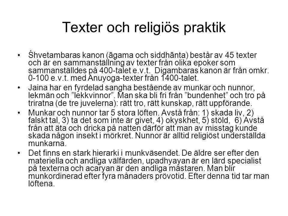 Texter och religiös praktik
