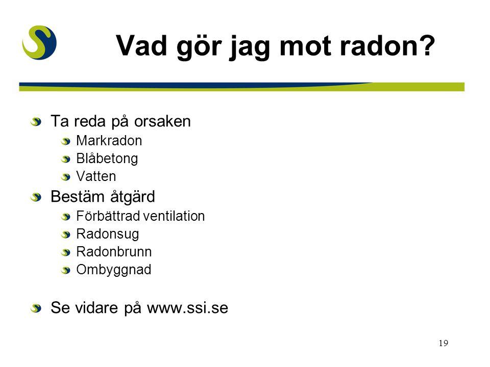 Vad gör jag mot radon Ta reda på orsaken Bestäm åtgärd