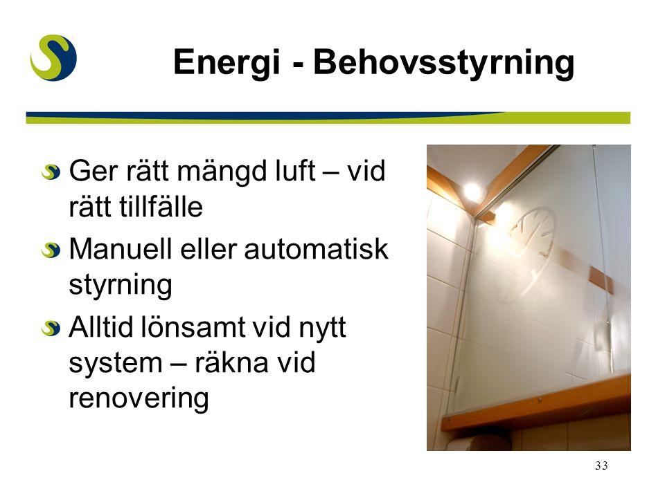 Energi - Behovsstyrning