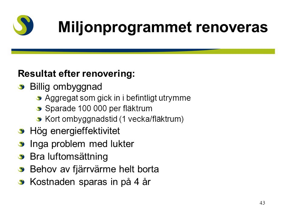 Miljonprogrammet renoveras