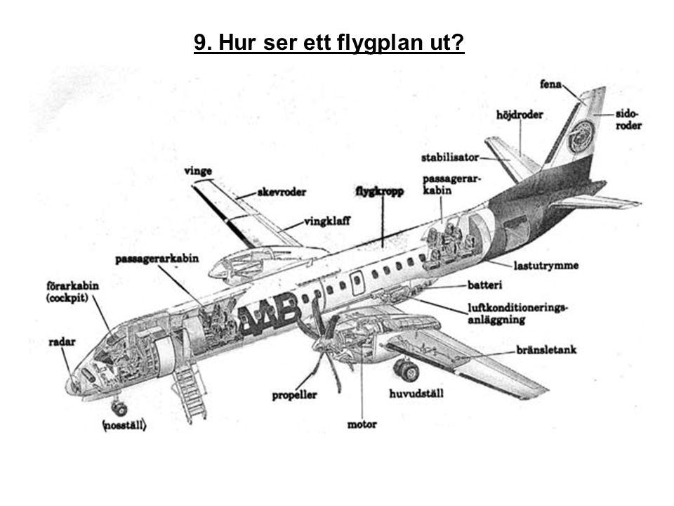 9. Hur ser ett flygplan ut