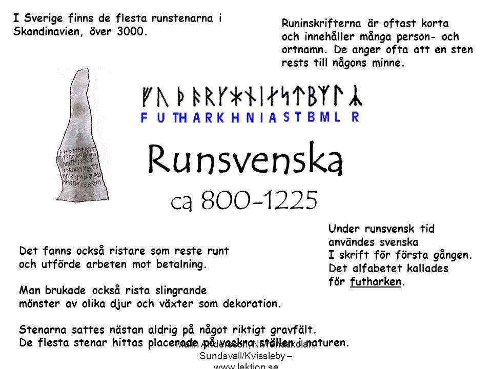 Malin Andersson, Nivrenaskolan, Sundsvall/Kvissleby – www.lektion.se