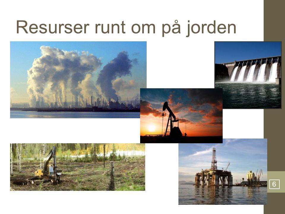 Resurser runt om på jorden