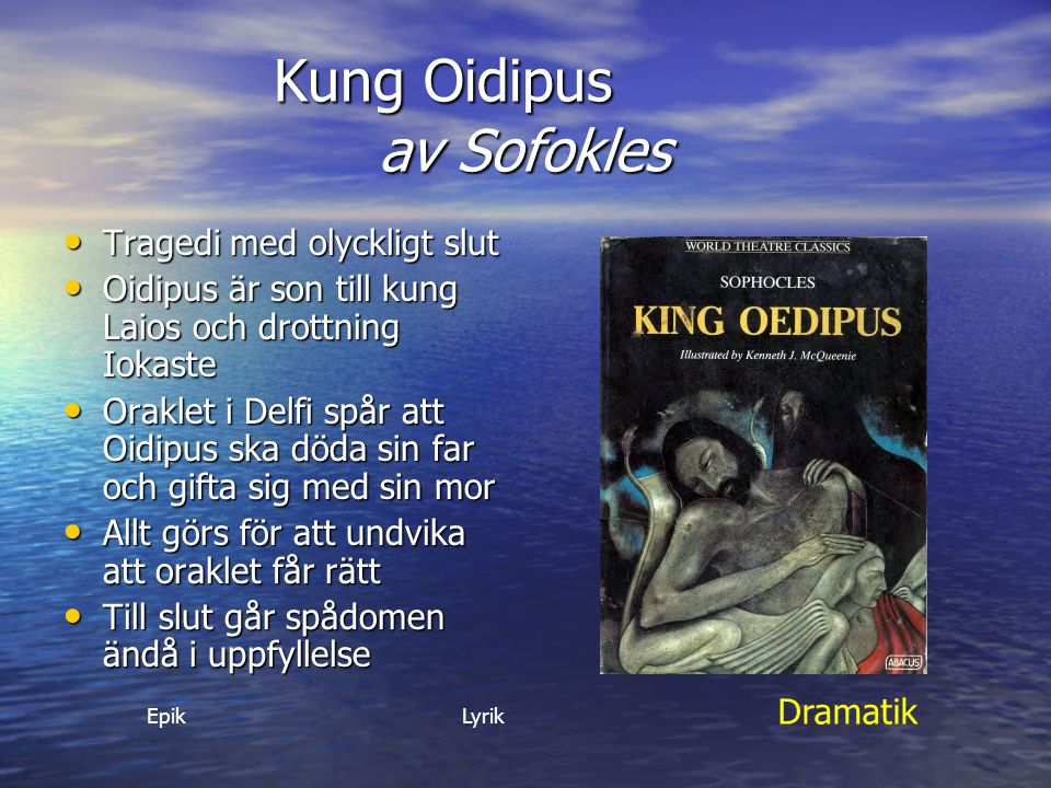 Kung Oidipus av Sofokles