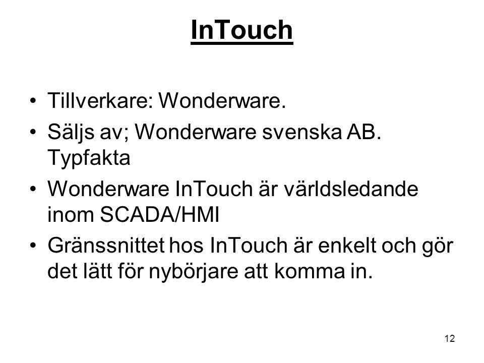 InTouch Tillverkare: Wonderware.
