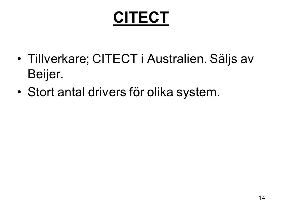 CITECT Tillverkare; CITECT i Australien. Säljs av Beijer.