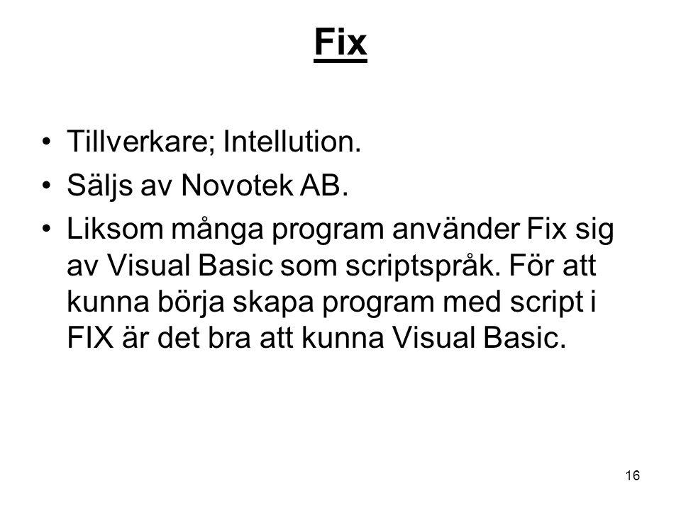 Fix Tillverkare; Intellution. Säljs av Novotek AB.