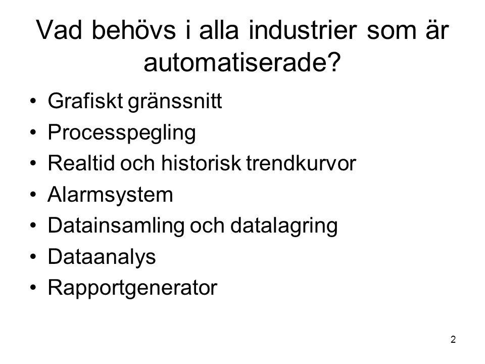 Vad behövs i alla industrier som är automatiserade