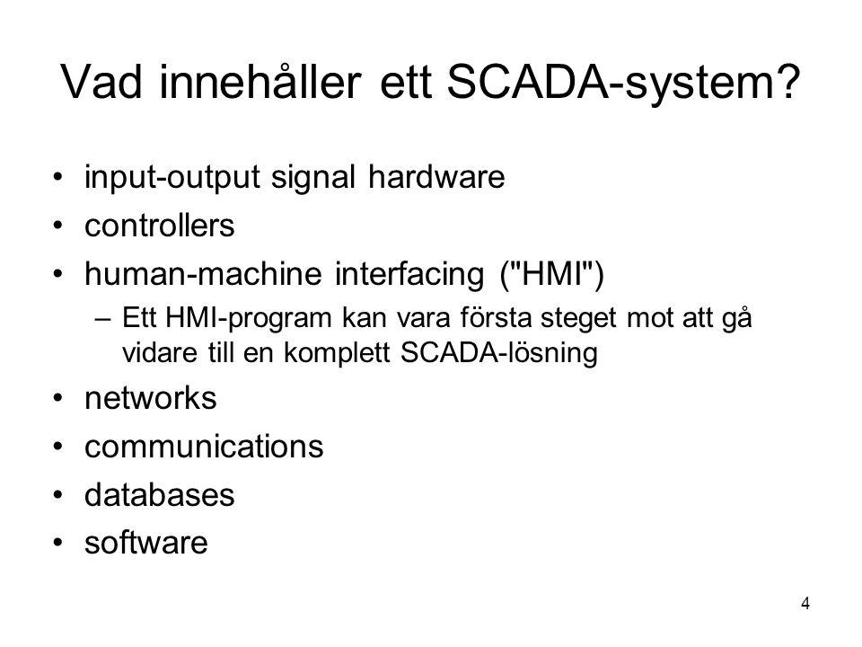 Vad innehåller ett SCADA-system