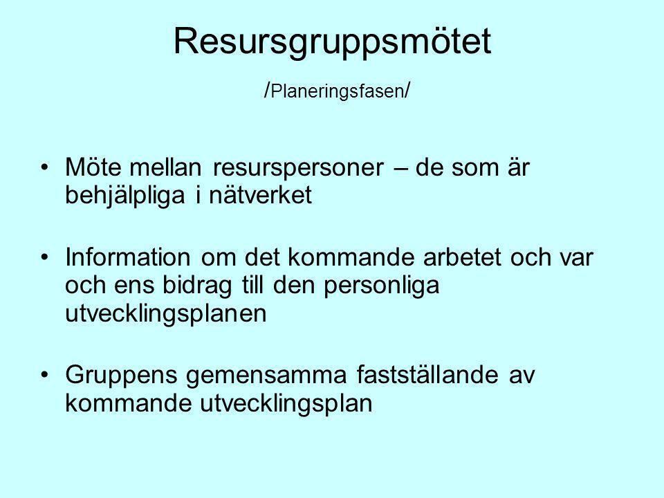 Resursgruppsmötet /Planeringsfasen/